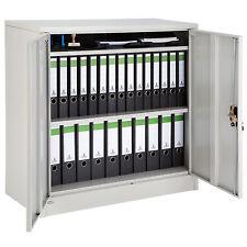 Armoire à portes de bureau metallique acier meuble de rangement armoire-fichier