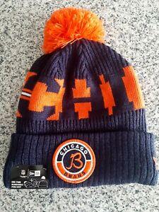 2021 Chicago Bears New Era NFL Knit Hat On Field Sideline Beanie Hat Football