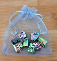 Bismuth Healing Crystals - gem bag 40g (Bigger gems) - kids / Jewellery making