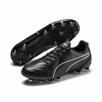Puma Football Soccer Mens KING Hero Firm Ground Leather Boots Cleats Black
