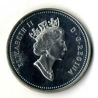 Moneda Canada 1990 1 dollar plata .500  silver coin Isabel II