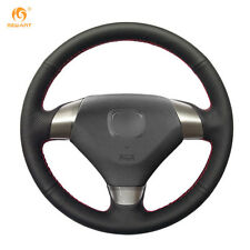 Durable Black Leather Steering Wheel Cover for Honda Accord 7 2002-2005