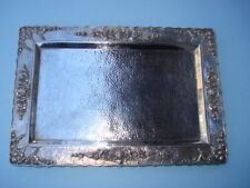 Silver Footed Tray - Rectangular Form - 800 Silver-Thailand 20Th Century