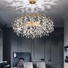 LED Golden Branch Crystal Chandelier Living Room Dining Room Lighting Light Lamp