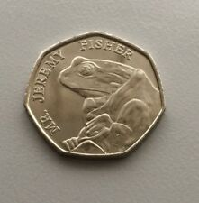 Jeremy Fisher - Beatrix Potter 50p Fifty Pence coin 2017 - Uncirculated