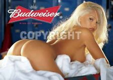 Fridge Magnet Sexy Budweiser Playmate blonde stripper doggy style babe bar decor