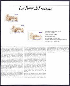 documents philatéliques 2 + chacun 1 timbre neuf - 1 timbre oblitéré année 87-94