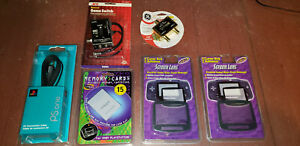 Misc. Vintage Gaming Accessory Lot NEW OLD STOCK PsOne AV GBA Atari Memory Card