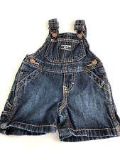 OshKosh B'gosh Baby Infant Boy Dark Blue Shorts Overalls Size 6 Months Preowned