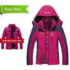 Women Winter Warm 3 in 1 Waterproof Coats New Thicken Snowboard Windproof Jacket