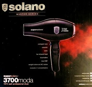 SUPERSOLANO MASTER SERIES CERAMIC IONIC 1875W  3700 MODA HAIR DRYER  ITALY MADE