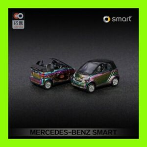 DEC 2020 BENZ SMART FOR TWO 1:64 XCARTOYS special color 4.2cm long 2 CARS SET