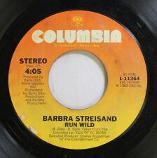 Pop 45 Barbra Streisand - Run Wild / Woman In Love On Columbia