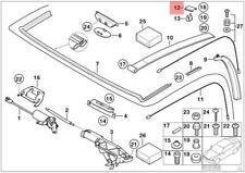 GENUINE BMW E30 E36 E52 Z3 Lunette Arrière Convertible Top Plaque OEM 54318134599