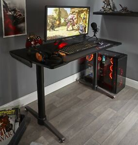 X Rocker Gaming Desk Home Office Computer Table Grey FREE MOUSEMAT INCLUDED