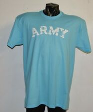 ARMY VINTAGE DESTROYED LETTERS BABY SKY BLUE T-SHIRT- EXTRA LARGE