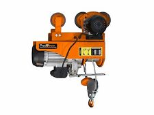 1 Ton Electric Rope Hoist w/ Power Trolley up limiter 110~120V 60HZ w/ E.Stop