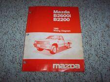 1989 Mazda B-Series Truck B2200 B2600i Electrical Wiring Diagram Manual Book