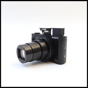 Sony Cyber-shot DSC-HX90 18.2MP Compact Premium Digital Camera - Black