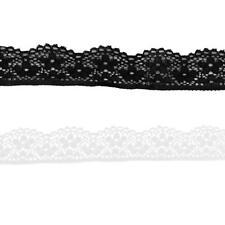 2pcs 5 Yards Lace Ribbon Embellishment for Making Lingerie Decoration 23mm
