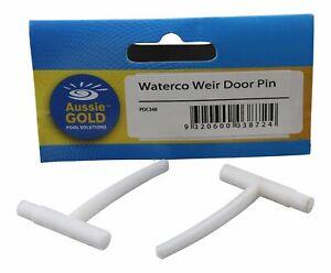 Waterco Weir Door Clips S75 Nally Skimmer Weir Door Clip Pair Hinge Pins