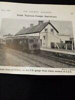 Kvc4 Ephemera 1959 picture railway ennis train at kilkee