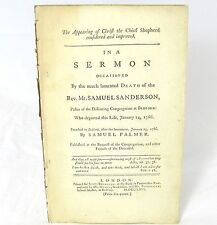 SERMON Appearing of Christ the Chief Shepherd by SAMUEL PALMER Samuel Sanderson