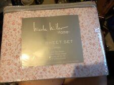 Nicole Miller Home Floral Full Sheet Set - Pink Swirls