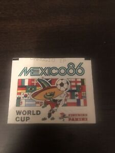 "Panini World Cup 1986 Mexico 86 Unopened Sticker Packet ""OMAGGIO"" version"