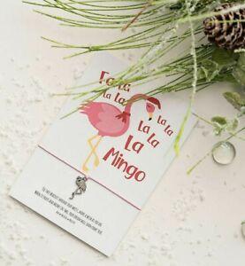 Flamingo Christmas Wish bracelet - Flamingo Christmas Card - Funny Flamingo Card