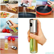 Stainless Steel Glass Olive Oil and Vinegar sprayer Sauce Sprayer Mister Pump