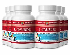 6B L-TAURINE 500mg Anti Aging Supplement Blood Sugar Levels Support Made in USA