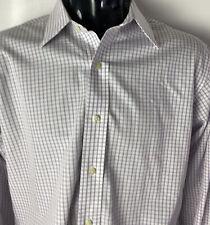 Brooks Brothers 346 Non Iron Dress Shirt Slim Fit French Cuff Checks Sz 16/34