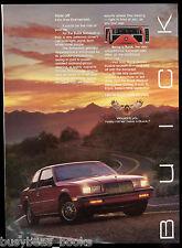 1985 BUICK SOMERSET advertisement, Buick Somerset, fiery sunset