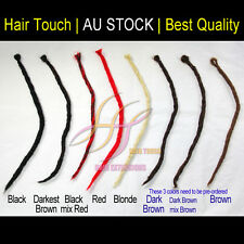 Brand New Hand Made Dreadlock Braid Extension Single Dread Black Brown Blonde