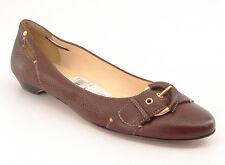 New CIRCA JOAN DAVID Women Brown Leather Slip On Dress Ballet Flat Shoe Sz 7.5 M