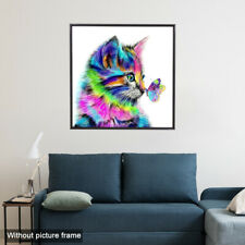 Cat Butterfly DIY Diamond Painting Embroidery Cross Craft Stitch Kit Home Decor