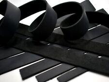 SECONDS: ONE Black Cowhide Leather (Med Wgt) Strip Strap (5-6oz=5/64