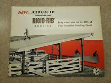 Vintage 1960s Farm Pole Buildings Cattle Barns Sales Brochure Republic Steel