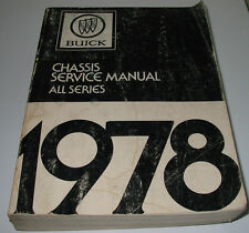 Service Manual Buick Regal Sport Coupe Skylark Riviera Electra Park Avenue 1978!
