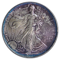 1993 $1 Silver Eagle PCGS MS-67 ( Nicely Toned ) ASE