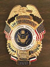 President OBAMA BIDEN LAW ENFORCEMENT COMMEMORATIVE BADGE 2009 Protection Detail