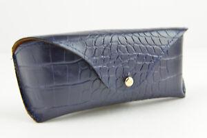 New Ralph Lauren eyeglasses / sunglasses soft case blue RL logo Crocodile Print