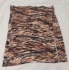 Ladies Skirt Pencil Skirt Tiger Multi Print Plus Size 22 George BNWT
