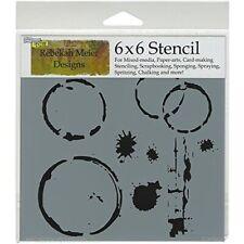 6x6 Mini Coffee Splotch Design Stencil Crafters Workshop Paper Art Craft Collage