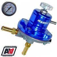 Sytec Sar Adjustable Fuel Pressure Regulator 1-5 bar For 8mm Fuel Hose & Gauge
