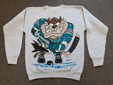 Vtg 90s 1994 Looney Tunes x San Jose Sharks Crewneck Sweatshirt Shirt Gray Large
