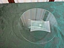 Beautiful PartyLite Stacking Footed Round Glass Dessert/Cake Plate