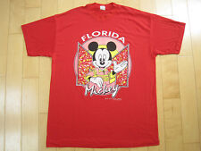 Awesome! 80s vtg Mickey Mouse Florida red T Shirt 50/50 disney Large tstm