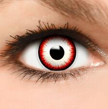"""Farbige Kontaktlinsen gelb rot """"Undead Zombie"""" + Behälter Halloween Linsen Fun"""